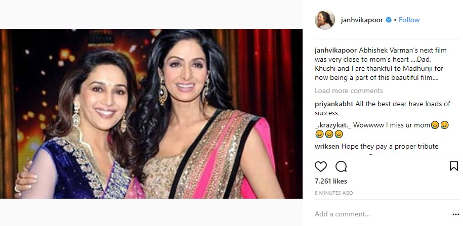 Madhuri Dixit stepping into Sridevi's shoes
