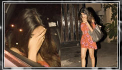 Watch: Nidhhi Agerwal hides her face from shutterbugs and paparazzi