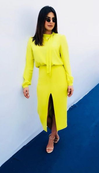 Yellow is the new black for Peecee!