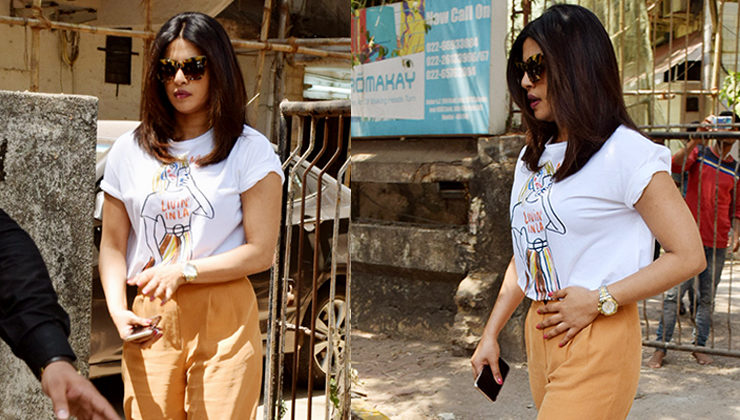 Priyanka Chopra's quoted tee is a proof that she is missing the WEST. View Pics!