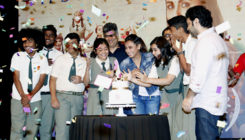 Hichki: Rani Mukerji and team hold a party to celebrate the success. View Pics