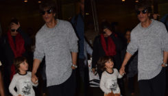 PICS: AbRam gets a new playmate as he returns with daddy Shah Rukh Khan from a vacation