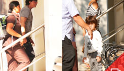 PICS: A grumpy AbRam spotted with parents Shah Rukh and Gauri