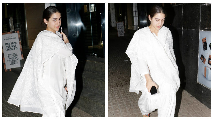 You can't take your eyes off Sara Ali Khan's sweet yet de-glam avatar. VIEW PICS