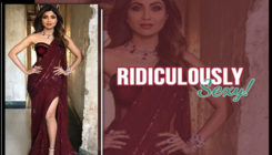 Shilpa Shetty Kundra gives a rubylicious twist to her signature saree gown!