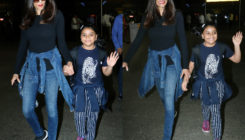 PICS: Twinning in style, Sushmita and daughter are all smiles as they are back to the city