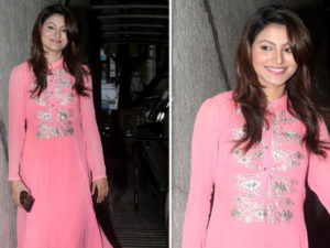 Watch: Urvashi Rautela spotted at Sanjay Dutt's house