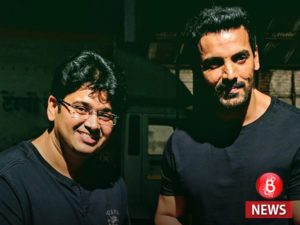 john abraham and milap zaveri on the sets