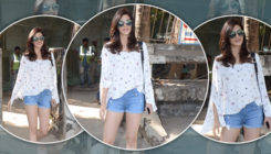Kriti Sanon puts cools down the scorching Mumbai heat, with the blues of her hot pants!