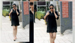 Mira Kapoor picks a little black dress for her salon outing. VIEW PICS