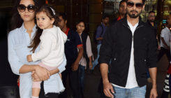 Misha's innocent stare steals the show as Shahid and family return. VIEW PICS