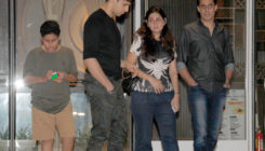 Coordinated in shades of black and grey, Sidharth and family go on a dinner date. VIEW PICS