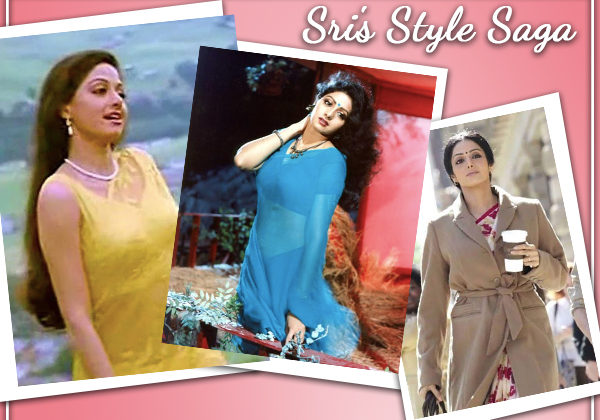 Remembering the 'Hawa Hawai' girl: A glimpse at Sridevi's fascinating style evolution