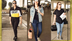 Huma Qureshi, Esha Deol and Tamannaah's airport look is to the point. View Pics
