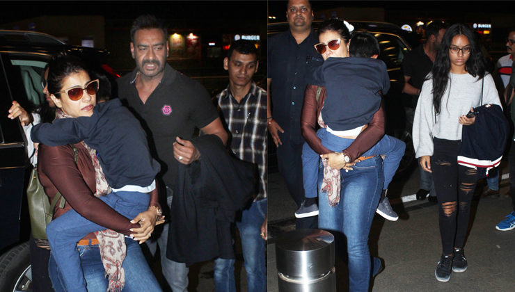 PICS: Ajay Devgn flies off to an undisclosed location with family to celebrate his birthday