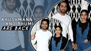 Ayushmann Khurrana and Bhumi Pednekar spotted post an ad shoot