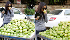 Back from the Beehad, Bhumi Pednekar on a fruit shopping spree. View Pics