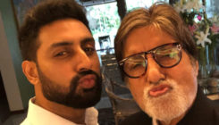 Amitabh Bachchan & Abhishek Bachchan pout it out for '102 Not Out'!