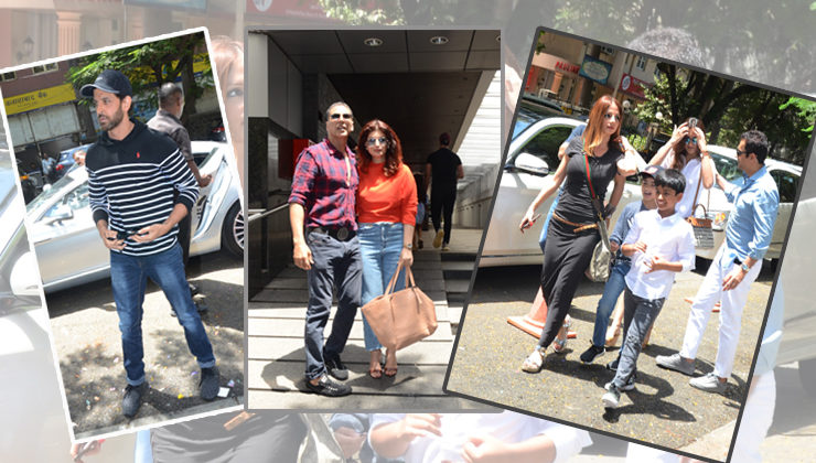 Neighbours spotted! Hrithik-Sussanne and Twinkle-Akshay on a lunch day out with their kids
