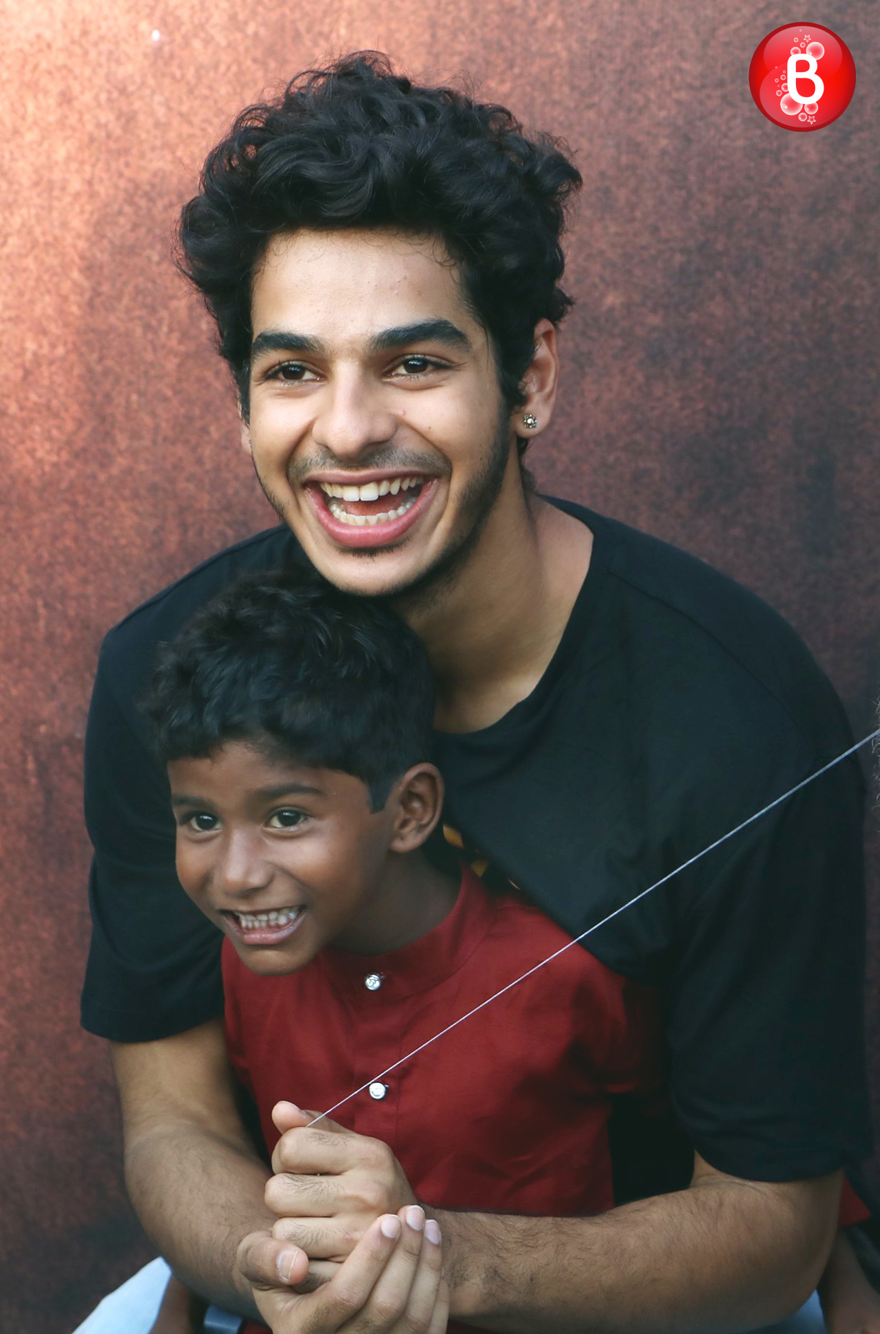Ishaan Khatter with a boy