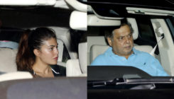 Jacqueline, David Dhawan and others pay a visit to Salman Khan's residence. SEE PICS