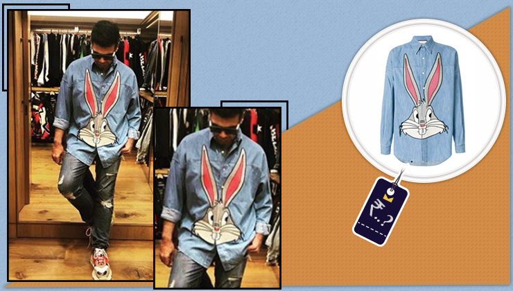 Price Tag: The cost of Karan's bunny-themed shirt will make you HOP a giant loop in surprise!