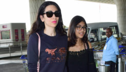 Karisma looks like an older sibling to Samiera as the mother-daughter duo gets papped at airport