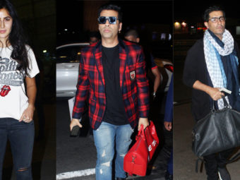 PICS: Katrina, KJo and Manish Malhotra put up a stylish show at the airport