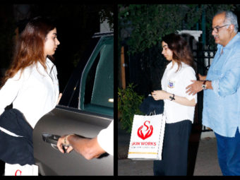 Khushi Kapoor and Boney Kapoor spotted at Arjun's house! VIEW PICS