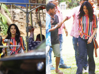 PICS: 'Murder' babe Mallika Sherawat clicked while shooting for an AD shoot