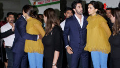Former lovebirds Ranbir and Deepika exchange a warm hug at an event! VIEW PICS