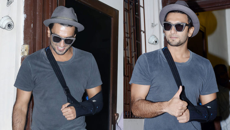 PICS: Injured yet smiling, Ranveer Singh looks uber-cool as he gets snapped in the city