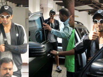 An energetic Ranveer Singh papped outside a clinic. View Pics