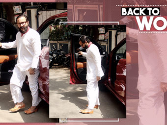 Post acquittal from court and spending time with family, Saif gets back to work. SEE PICS