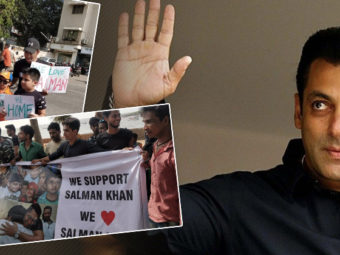 OUTSIDE SALMAN'S HOUSE: Fans can't keep calm as Bhaijaan to return home after the BAIL