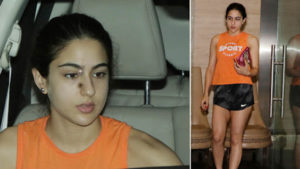 WATCH: Sara Ali Khan SPOTTED leaving the building where Varun Dhawan's office is