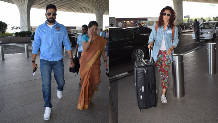 Taapsee Pannu & Abhishek Bachchan SPOTTED at the Airport!