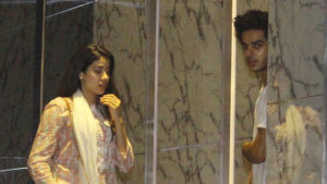 Watch: Ishaan Khattar and Janhvi Kapoor spotted at a five star hotel