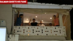 FRESH PICTURES and VIDEOS: Salman Khan and his trademark wave to his fans from Galaxy apartments