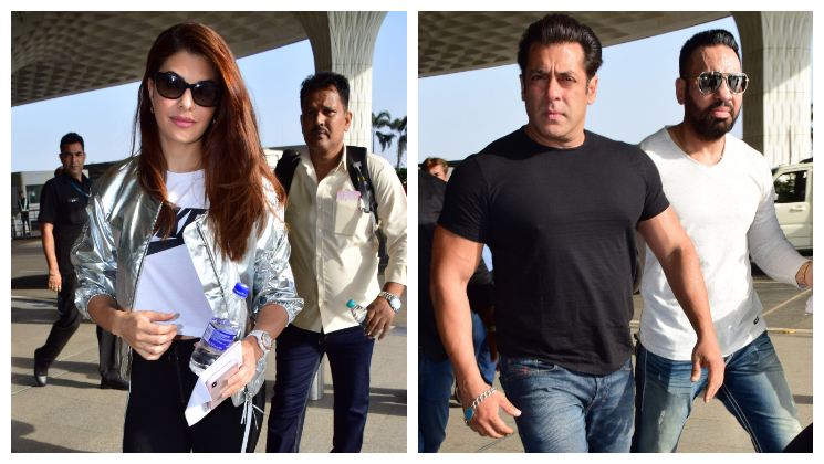 Salman Khan & Jacqueline Fernandez walk in style at the airport!