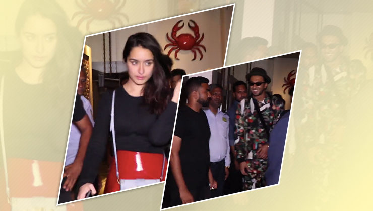 Watch: Ranveer Singh, Shraddha Kapoor and others papped post dinner
