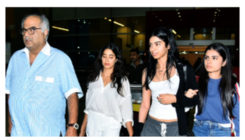 Boney Kapoor & Daughters reach Delhi to accept Sridevi's National Award