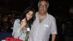 Daddy Boney Kapoor turn airport receiver for Janhvi Kapoor!