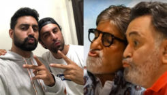 Like father like son-Abhishek & Ranbir promoting their father's film is cuteness personified