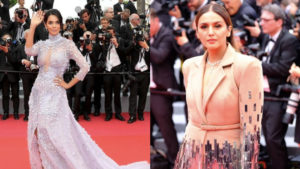 Mallika Sherawat and Huma Qureshi dazzle at the Cannes red carpet!