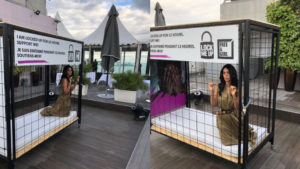 Mallika Sherawat locks herself in a cage for a campaign at Cannes 2018