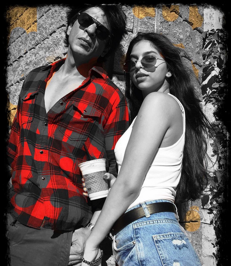 Suhana Khan and Shah Rukh Khan