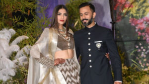 Watch: Sonam Kapoor and Anand Ahuja make a grand entry at their reception
