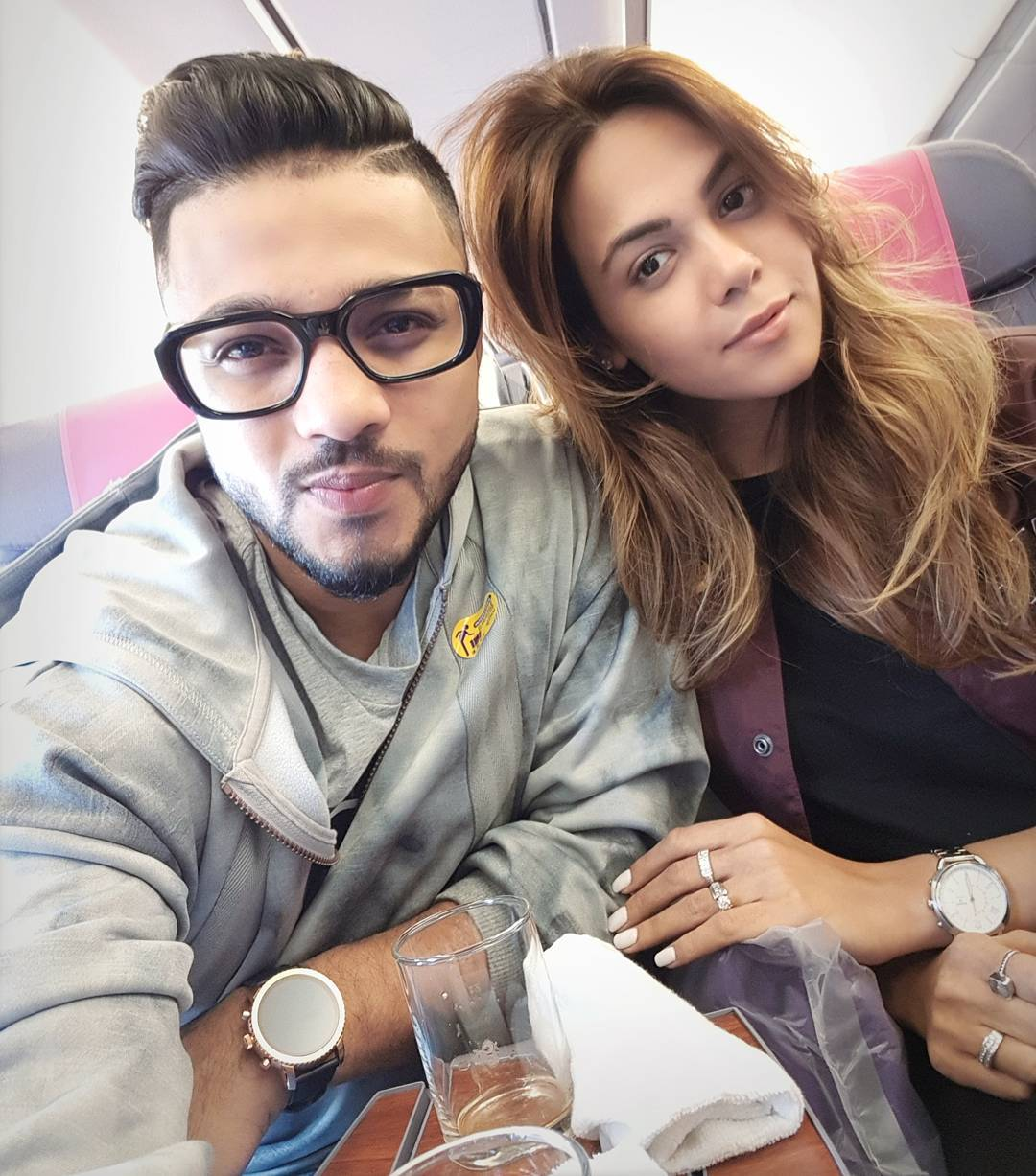 Raftaar and his wife Komal