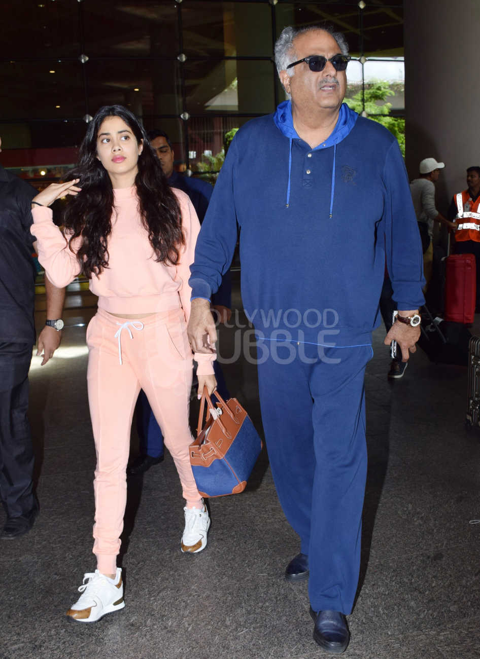 Janhvi Kapoor and Boney Kapoor
